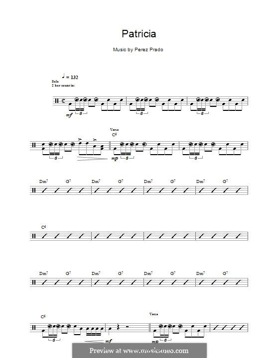 Patricia: Für Trommeln by Dámaso Pérez Prado