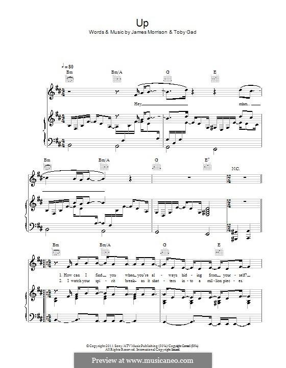 Up: Für Stimme und Klavier (oder Gitarre) by James Morrison, Tobias Gad