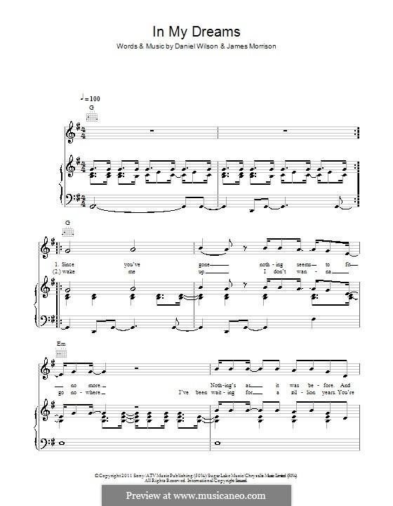 In My Dreams: Für Stimme und Klavier (oder Gitarre) by Daniel Wilson, James Morrison