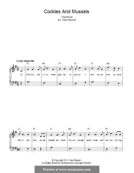 Molly Malone: Für Stimme und Klavier by folklore