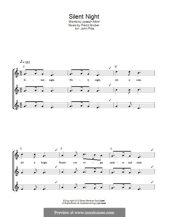 Stille Nacht (Noten zum Direktausdruck): Für Blockflöte (trio) by Franz Xaver Gruber