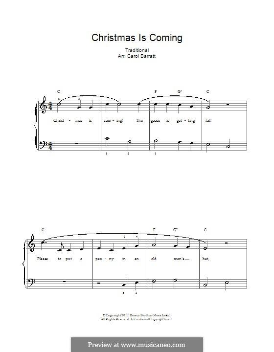 Christmas Is Coming: Für Stimme und Klavier by folklore