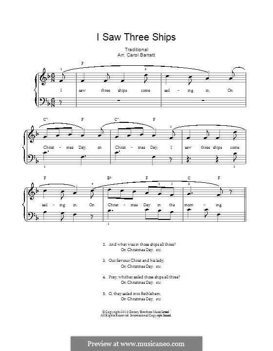 I Saw Three Ships: Für Stimme und Klavier by folklore