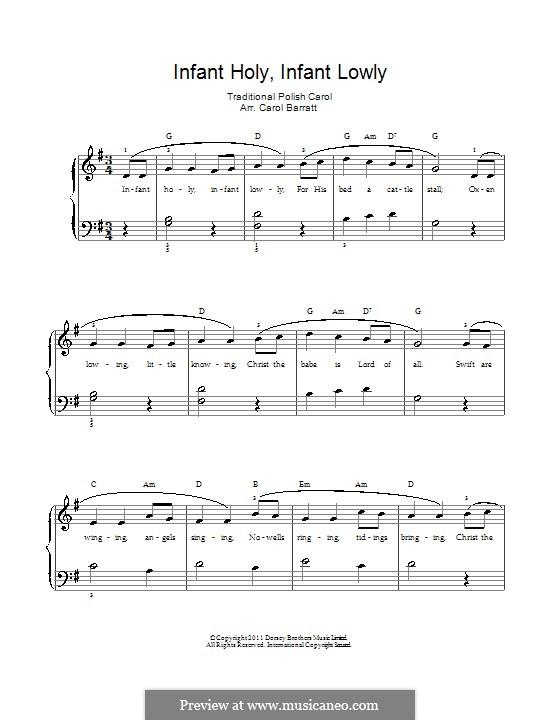 Infant Holy, Infant Lowly: Für Stimme und Klavier by folklore