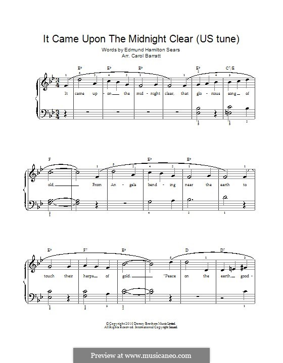 It Came upon the Midnight Clear: Für Stimme und Klavier by Richard Storrs Willis