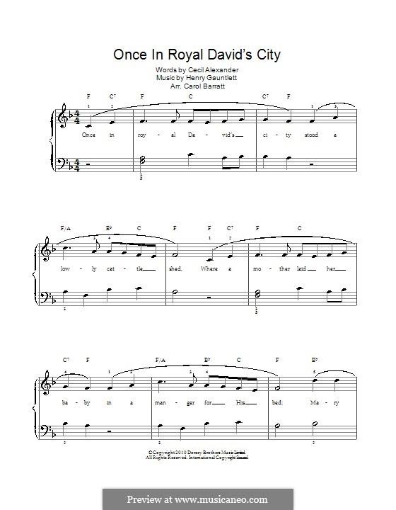 Einst in der königlichen Stadt David: Für Stimme und Klavier by Henry John Gauntlett