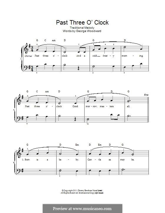 Past Three O'Clock: Für Stimme und Klavier by George Ratcliffe Woodward