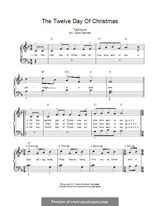 The Twelve Days of Christmas: Für Stimme und Klavier by folklore
