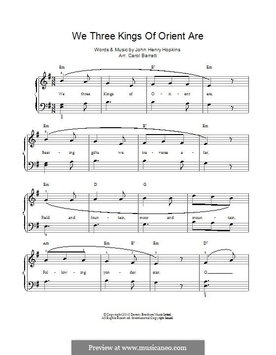 We Three Kings of Orient are: Klavierauszug mit Singstimmen by John H. Hopkins Jr.