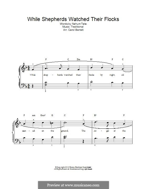 While Shepherds Watched Their Flocks: Für Stimme und Klavier by folklore