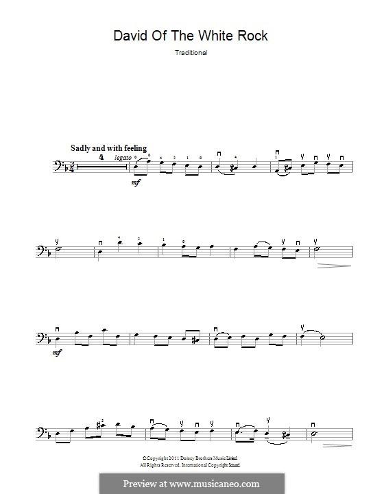 David of the White Rock: Für Cello by folklore