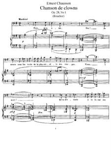 Chansons de Shakespeare, Op.28: Chansons de Shakespeare by Ernest Chausson