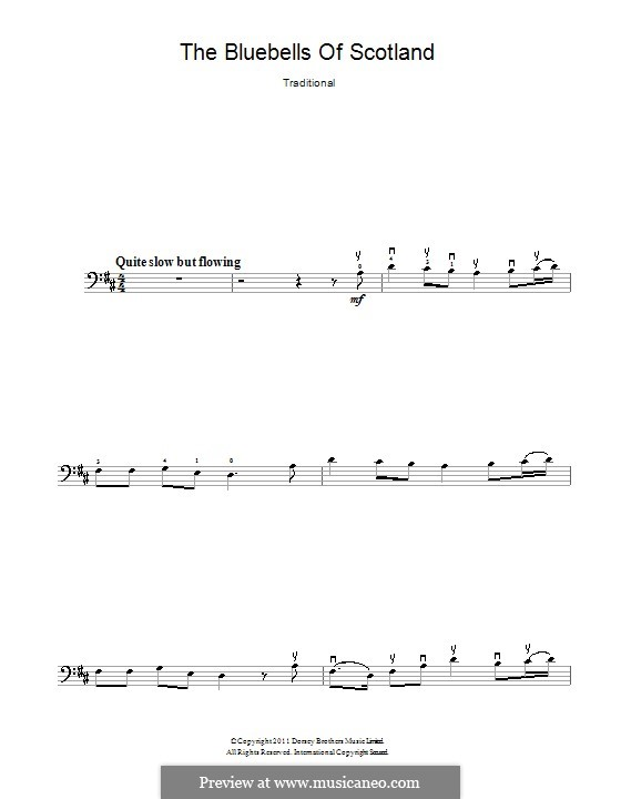 Blue Bells of Scotland: Für Cello by folklore