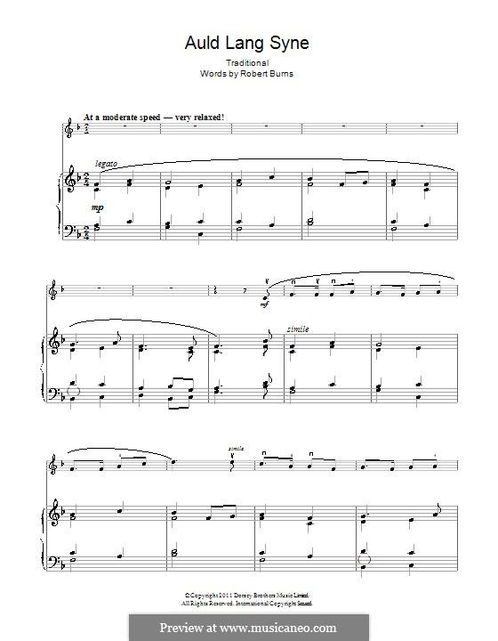 Auld Lang Syne: Für Violine und Klavier by folklore
