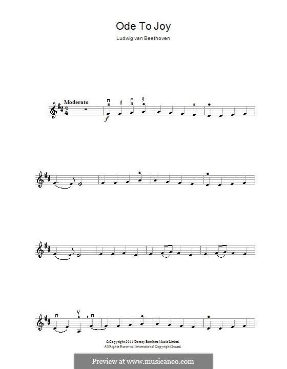 Ode an die Freude: Version für Violine by Ludwig van Beethoven