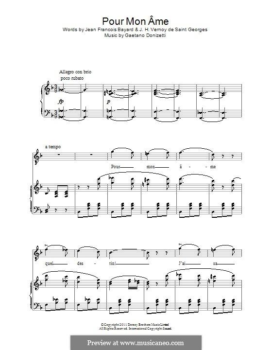 Die Regimentstochter: Pour mon ame by Gaetano Donizetti