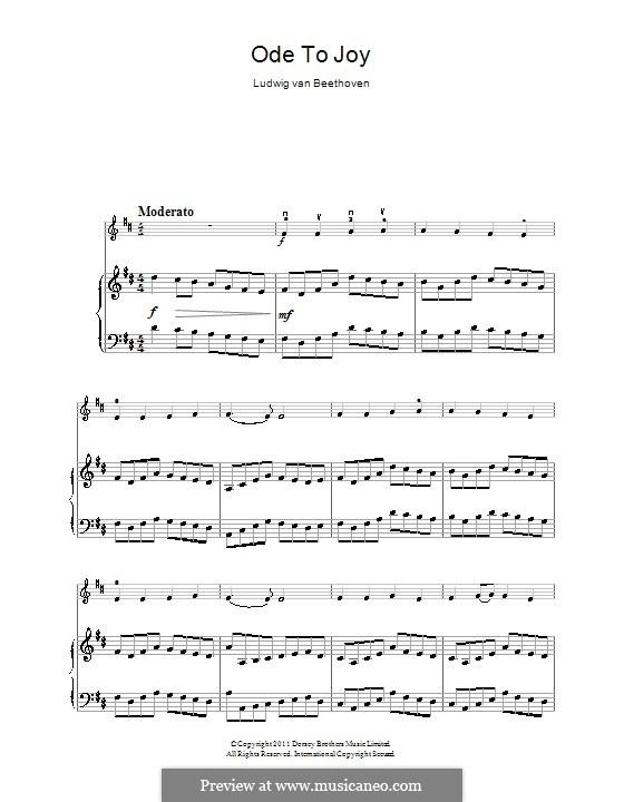 Ode an die Freude: Version für Violine und Klavier by Ludwig van Beethoven