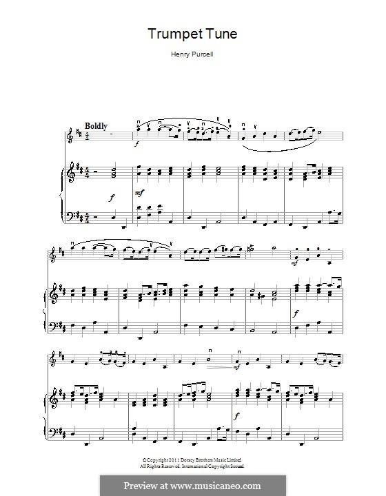 Trumpet tune and Air: Für Violine und Klavier by Henry Purcell