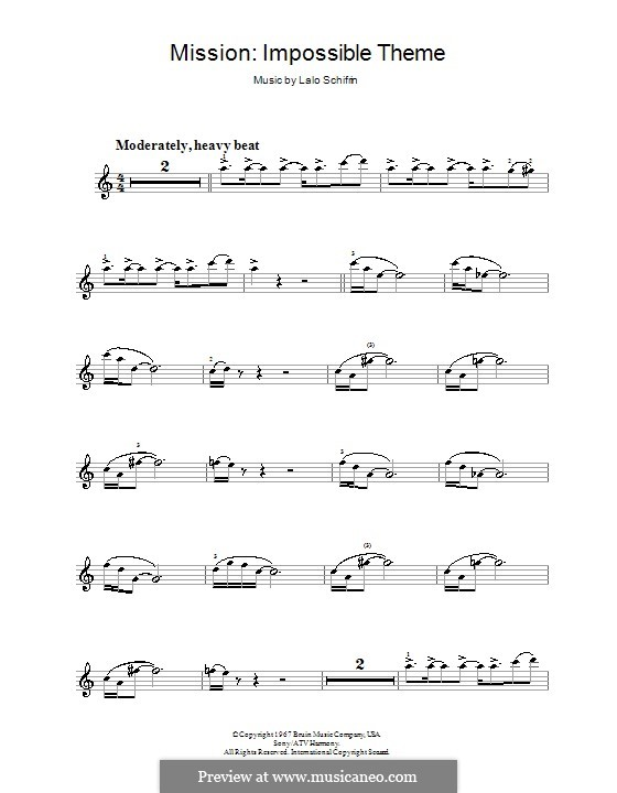 Mission: Impossible Theme (Mission Accomplished): Für Violine by Lalo Schifrin