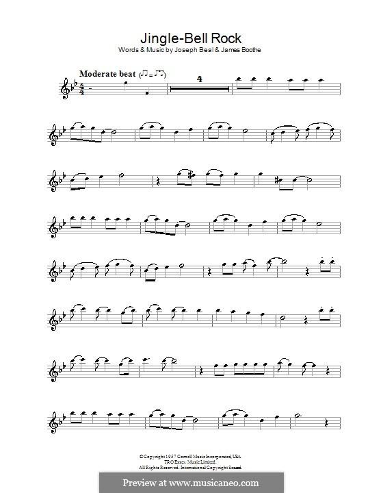 Jingle Bell Rock: Für Flöte (Bobby Helms) by Jim Boothe, Joe Beal