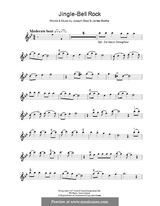 Jingle Bell Rock: Für Violine (Bobby Helms) by Jim Boothe, Joe Beal