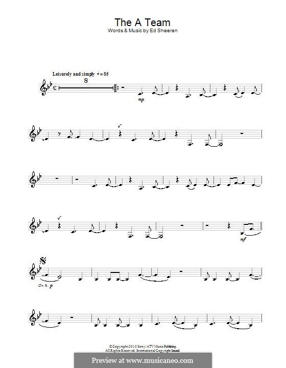 The a Team: Für Altsaxophon by Ed Sheeran