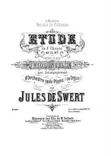 Nr.7 in cis-Moll: Bearbeitung für Cello und Klavier by Frédéric Chopin
