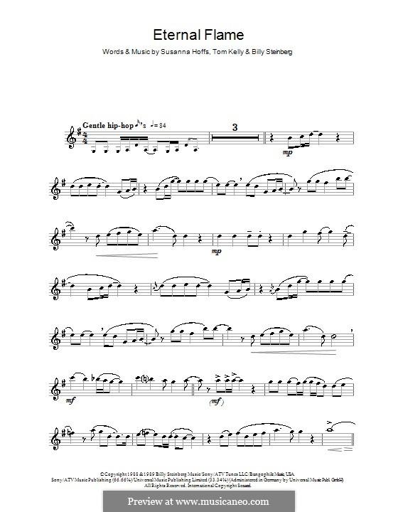 Eternal Flame: Für Flöte by Billy Steinberg, Susanna Hoffs, Tom Kelly