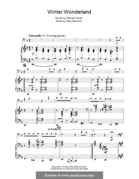 Winter Wonderland: Für Cello by Felix Bernard