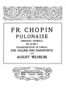 Polonäsen, Op.26: Nr.1, für Violine und Klavier by Frédéric Chopin