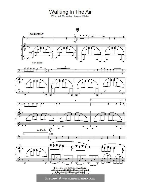 Walking in the Air: Für Cello by Howard Blake