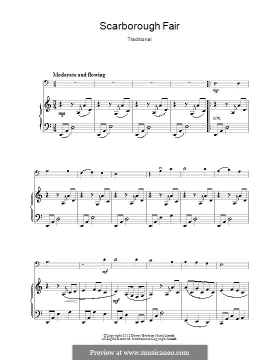 Scarborough Fair: Für Cello by folklore