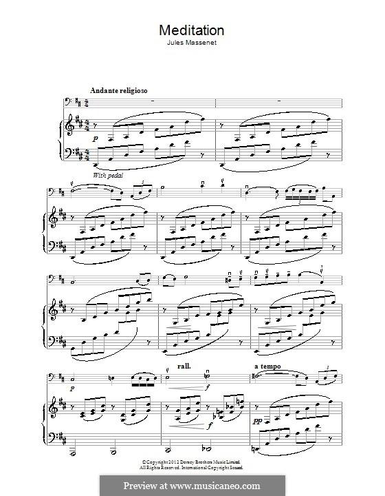 Meditation: Für Cello by Jules Massenet