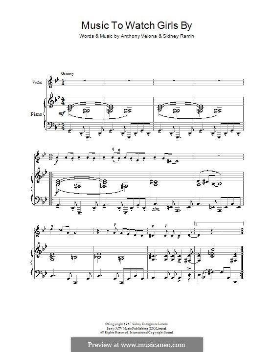 Music to Watch Girls By: Für Violine by Anthony Velona, Sidney Ramin