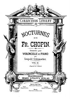 Nocturnen, Op.32: Nr.2, für Cello und Klavier by Frédéric Chopin