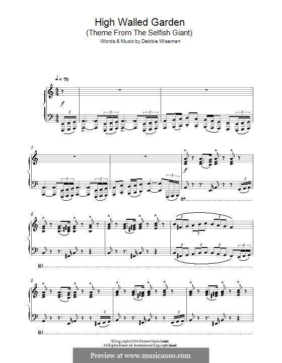 High Walled Garden (Theme from The Selfish Giant): Für Klavier by Debbie Wiseman