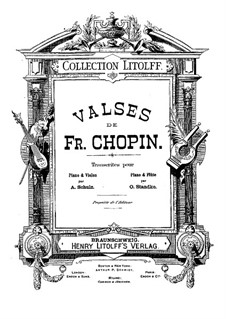 Walzer, Op.34: Nr.3, für Violine (oder Flöte) und Klavier by Frédéric Chopin