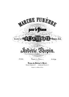 Sonate für Klavier Nr.2 in b-Moll, Op.35: Teil III by Frédéric Chopin