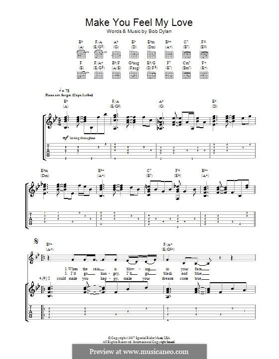 Make You Feel My Love: Für Gitarre mit Tab by Bob Dylan