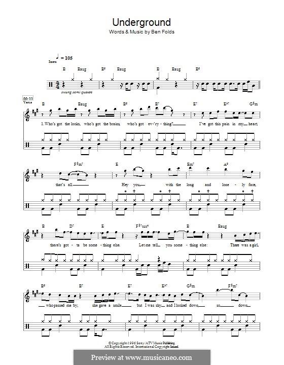 Underground (Ben Folds Five): Für Trommeln by Ben Folds
