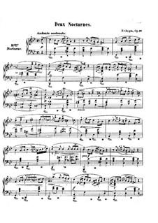 Nocturnen, Op.37: Vollständiger Satz by Frédéric Chopin