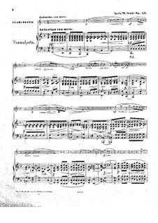 Vier Fantasiestücke für Klarinette oder Violine und Klavier, Op.43: Partitur für zwei Interpreten, Stimmen by Niels Wilhelm Gade