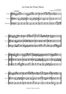 Suite Nr.1 in F-Dur, HWV 348: Arie, für Streichtrio by Georg Friedrich Händel