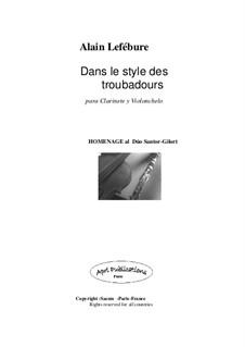 Dans le style des troubadours: Dans le style des troubadours by Alain Lefebure