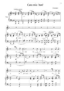 Caro mio ben (O Maiden Dear): For voice and piano (with accompaniment track) by Tommaso Giordani