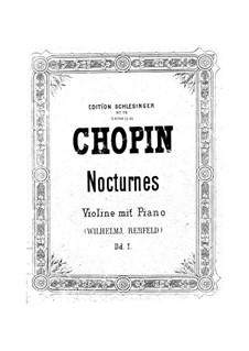 Nocturnen, Op.37: Nr.1, für Violine und Klavier by Frédéric Chopin