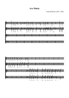 Ave Maria, WAB 7: Für Chor by Anton Bruckner