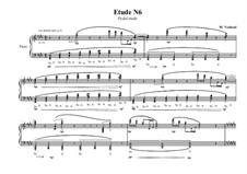 Etude No.6 for piano, MVWV 672: Etude No.6 for piano by Maurice Verheul