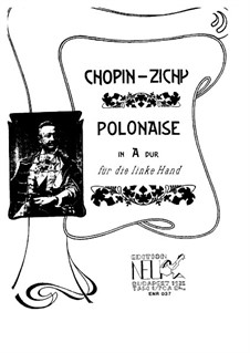 Polonäsen, Op.40: Nr.1. Bearbeitung für die linke Hand by Frédéric Chopin