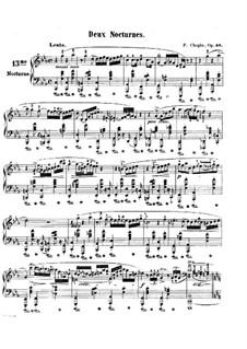 Nocturnen, Op.48: Vollsammlung by Frédéric Chopin